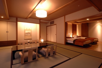 ゆったりとした露天風呂付和洋室、タイプ色々な7部屋